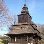 Humenský skanzen - kostolík svätého archanjela Michala z roku 1764.