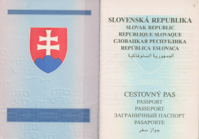 cestovný pas SR